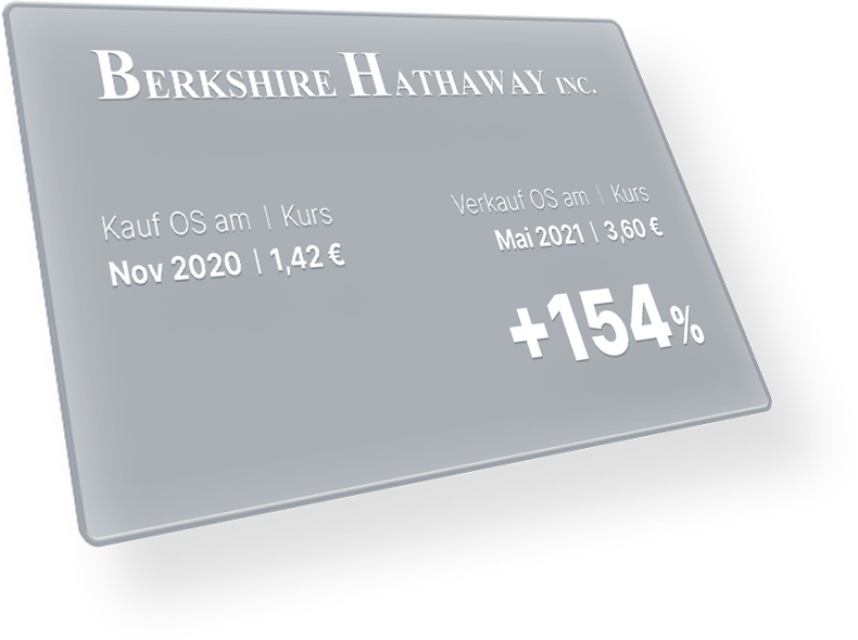 Performance mit Berkshire Hathaway: +154 %