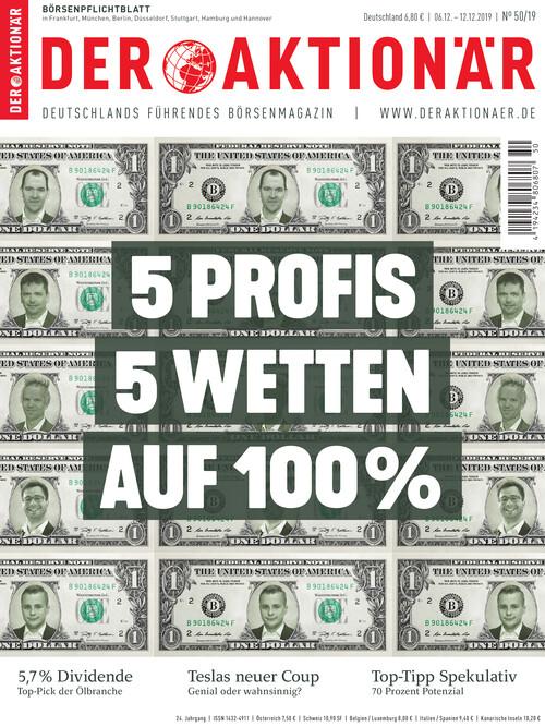 DER AKTIONÄR Ausgabe 50/19
