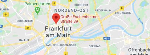 Landkartenausschnitt: Große Eschenheimer Straße 39, 60313 Frankfurt am Main
