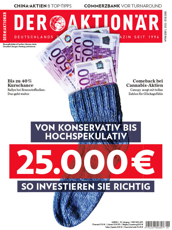 Von konservativ bis hochspekulativ: 25.000 Euro – so investieren Sie richtig  - DER AKTIONÄR