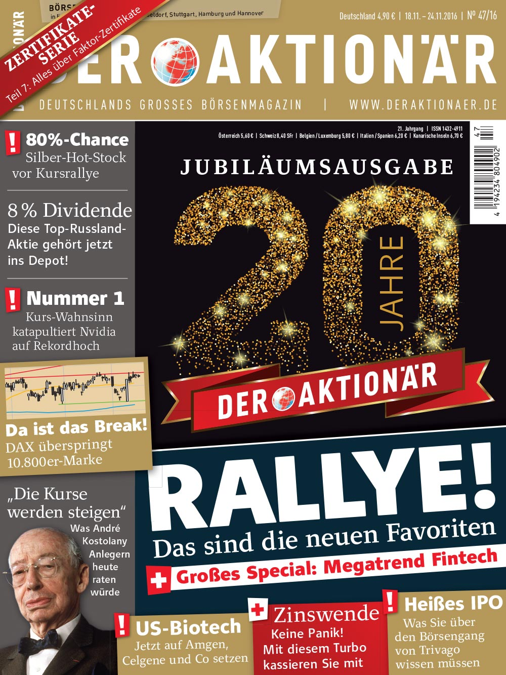 DER AKTIONÄR November 20016: Rallye! Das sind die neuen Favoriten
