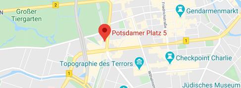 Landkartenausschnitt: Potsdamer Platz 5, 10785 Berlin