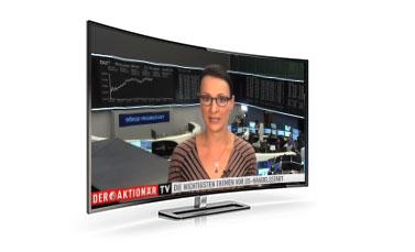 DER AKTIONÄR TV auf einem Fernsehgerät