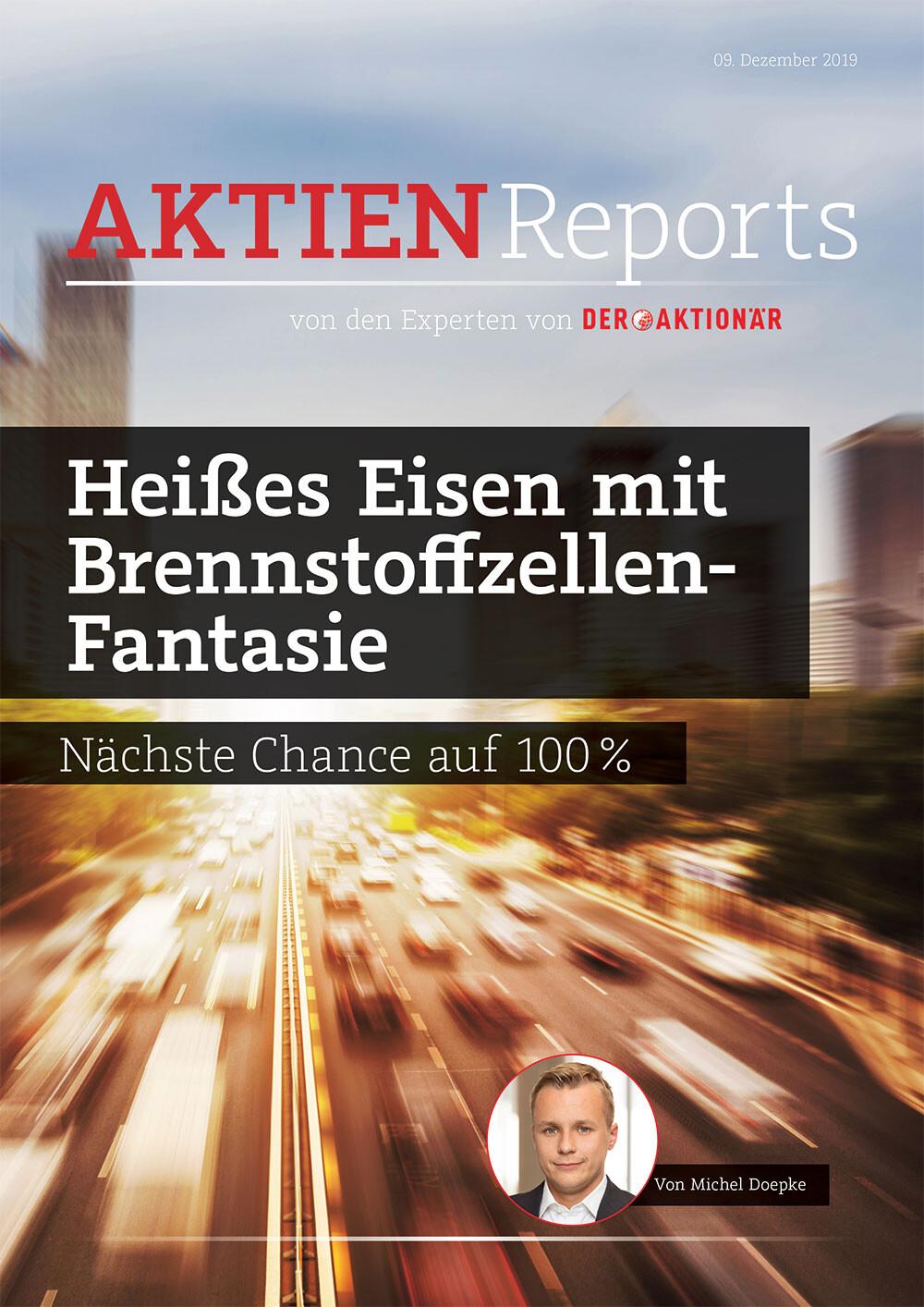 Nach Nel und Hydrogenics: Die nächste Chance auf 100 Prozent! - DER AKTIONÄR