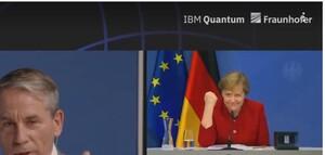 Köstlich: Angela Merkel mit Becker‑Faust für IBM, Daimler, BMW gegen Google