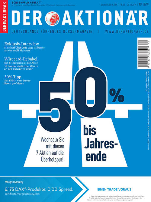 DER AKTIONÄR Ausgabe 43/19