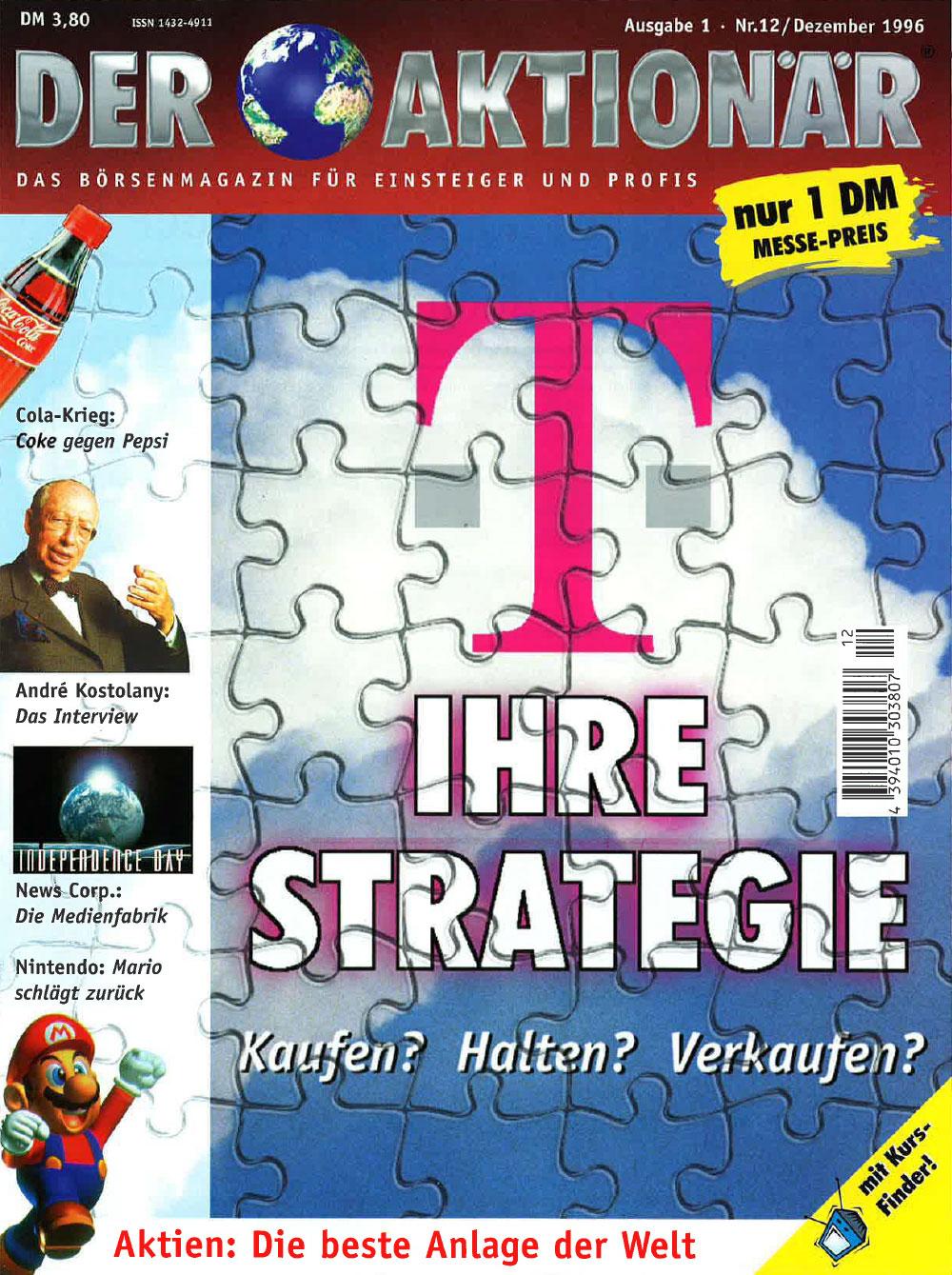 DER AKTIONÄR Dezember 1996: Ihre Strategie