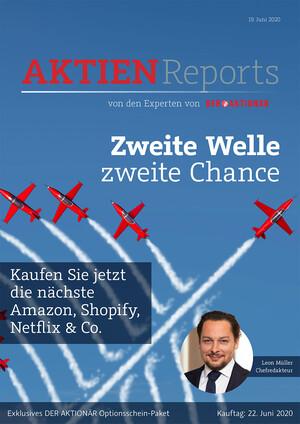 Aktienreports - Kaufen Sie jetzt die nächste Amazon, Shopify, Netflix & Co – Zweite Welle, zweite Chance – Das AKTIONÄR-OS-Paket