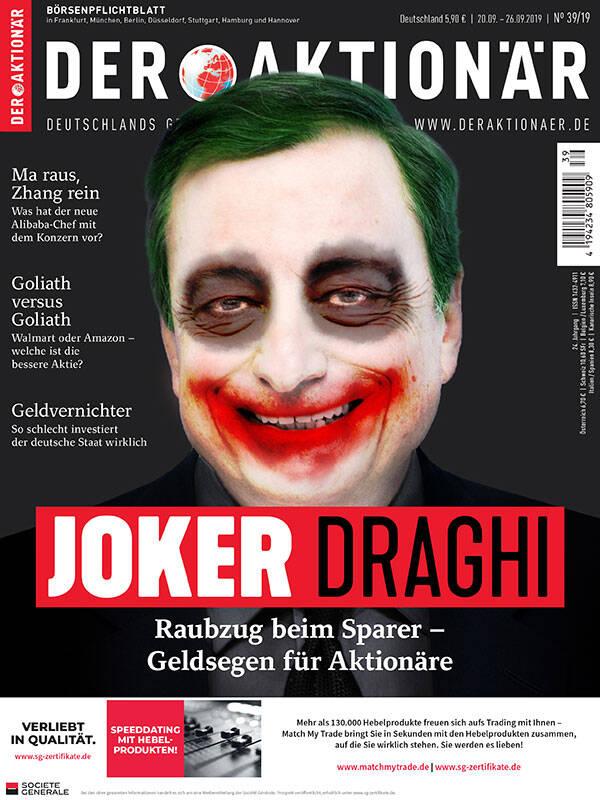 Joker Draghi: Raubzug am Sparer – Geldsegen für Aktionäre - DER AKTIONÄR