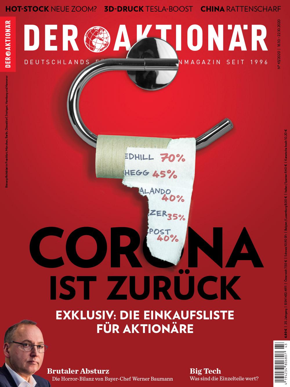 DER AKTIONÄR Oktober 2020: Corona ist zurück