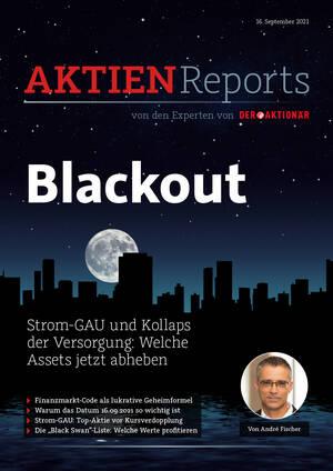 Aktienreports - Blackout - Strom-GAU und Kollaps der Versorgung: Welche Assets jetzt abheben